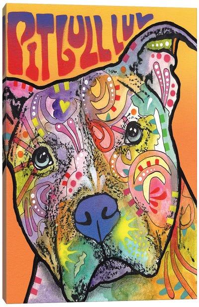 Pit Bull Luv Canvas Art Print