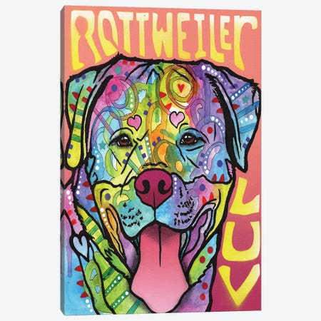 Rottweiler Luv Canvas Print #DRO205} by Dean Russo Canvas Art