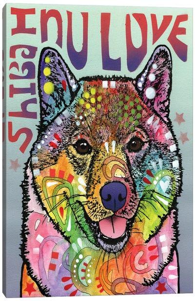 Shiba Inu Love Canvas Art Print