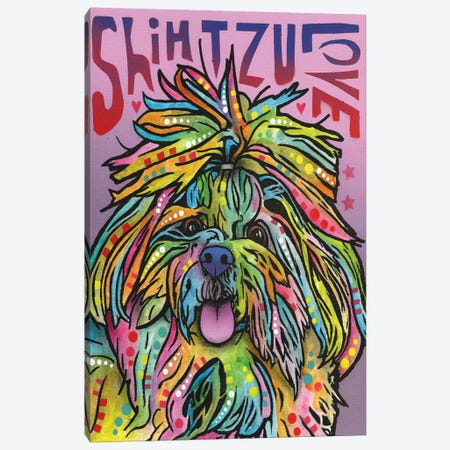 Shih Tzu Love Canvas Print #DRO207} by Dean Russo Canvas Artwork
