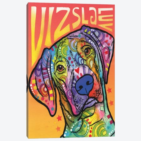 Vizsla Luv Canvas Print #DRO208} by Dean Russo Art Print