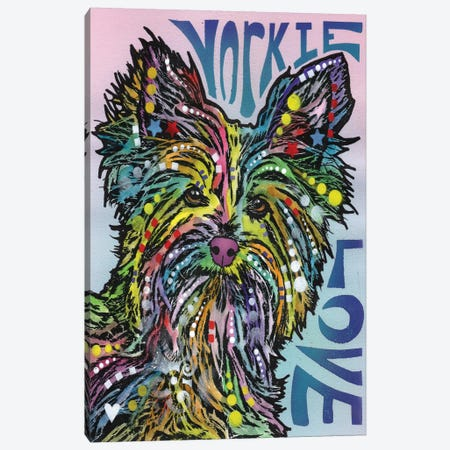 Yorkie Love Canvas Print #DRO209} by Dean Russo Canvas Art Print