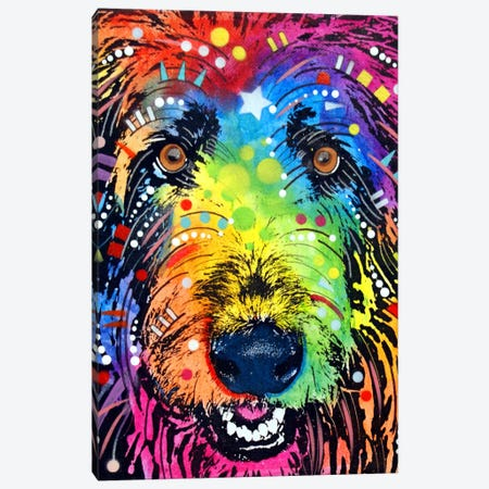 IRISH WOLFHOUND Canvas Print #DRO20} by Dean Russo Canvas Art