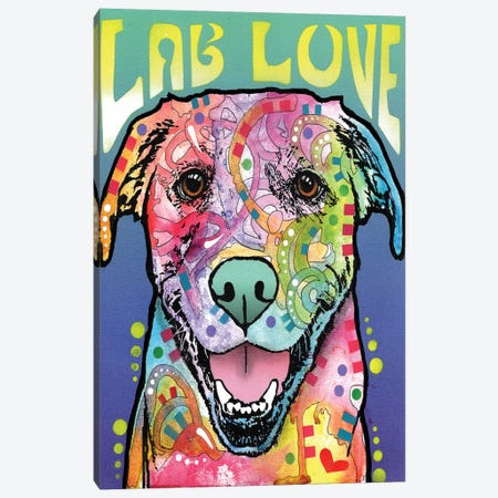 Lab Love Canvas Print #DRO210} by Dean Russo Canvas Wall Art