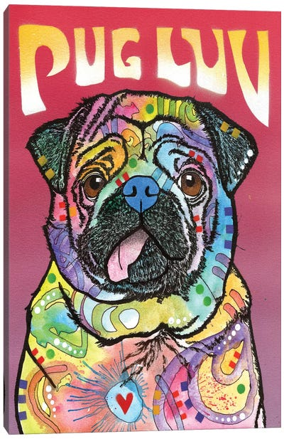 Pug Luv Canvas Art Print