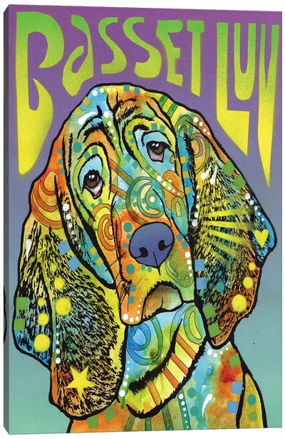 Basset Hound Luv Canvas Print #DRO212