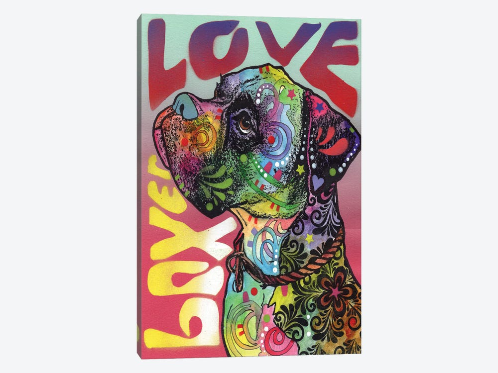 Boxer Love by Dean Russo 1-piece Canvas Art Print