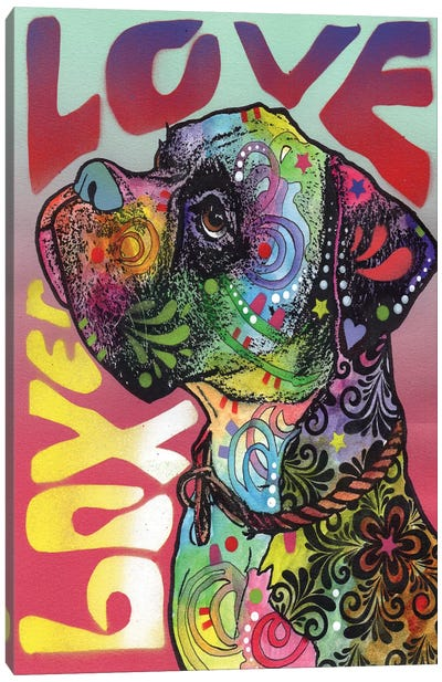 Boxer Love Canvas Art Print