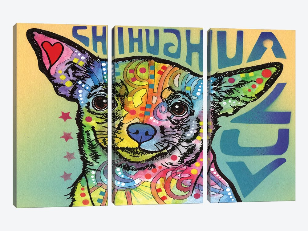 Chihuahua Luv 3-piece Art Print