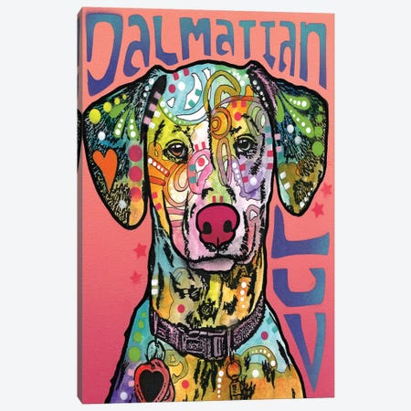 Dalmatian Love Canvas Print #DRO217} by Dean Russo Canvas Art Print