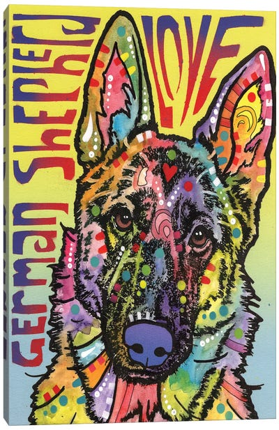 German Shepherd Love Canvas Print #DRO218