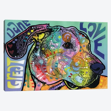 Great Dane Love Canvas Print #DRO219} by Dean Russo Canvas Artwork