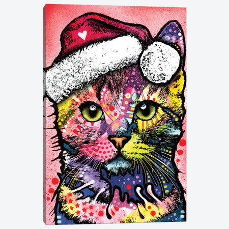 Christmas Cat Canvas Print #DRO221} by Dean Russo Canvas Print