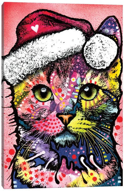 Christmas Cat Canvas Art Print
