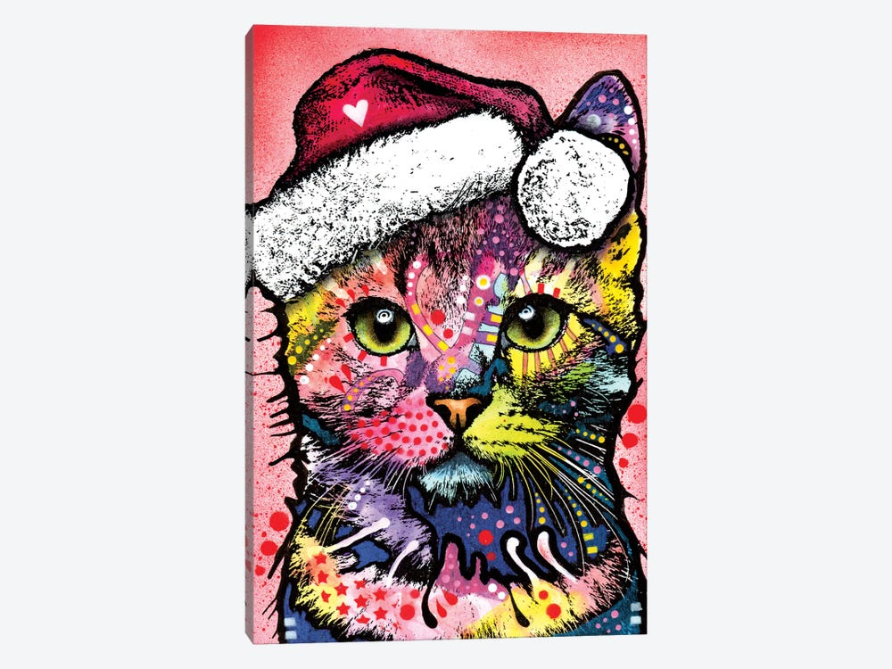 Christmas Cat by Dean Russo 1-piece Art Print