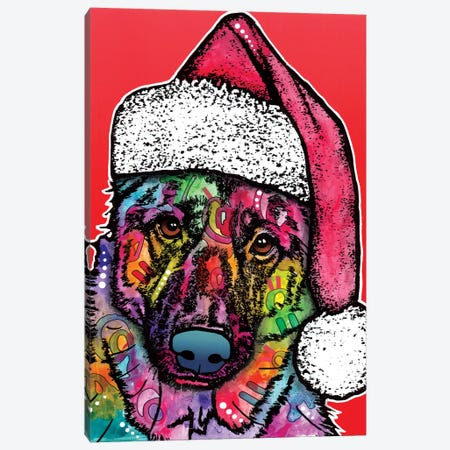 Christmas Dog Canvas Print #DRO222} by Dean Russo Canvas Art Print