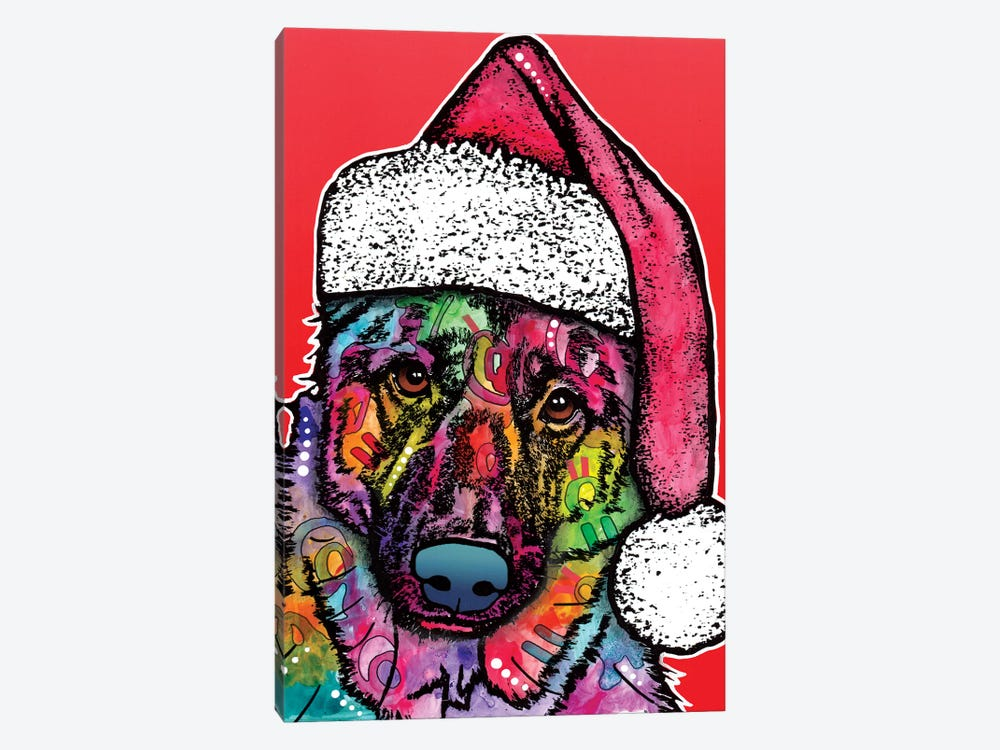 Christmas Dog by Dean Russo 1-piece Canvas Artwork