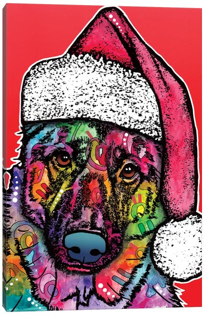 Christmas Dog Canvas Art Print