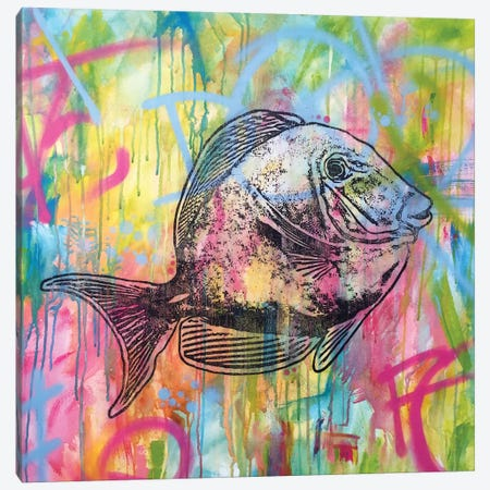 Fishy Spray Canvas Print #DRO226} by Dean Russo Canvas Wall Art