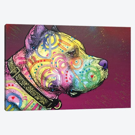 Pit Bull Soul Canvas Print #DRO230} by Dean Russo Canvas Artwork