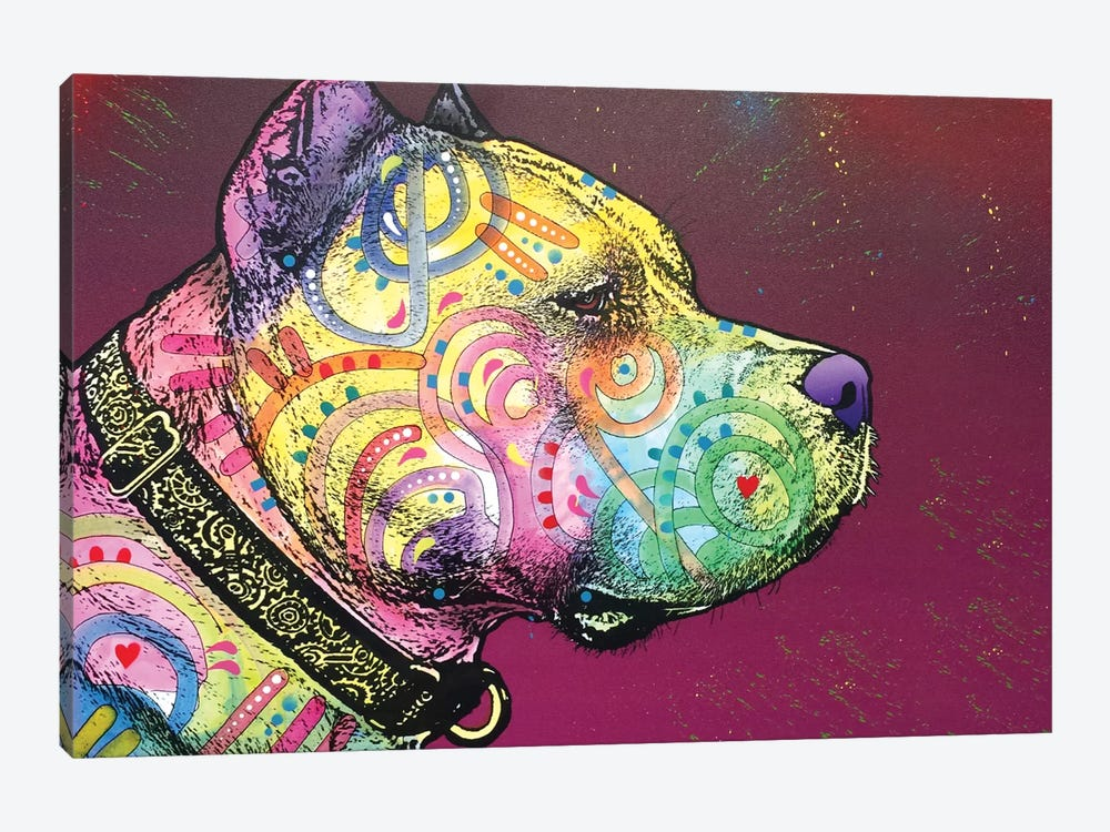 Pit Bull Soul by Dean Russo 1-piece Canvas Print