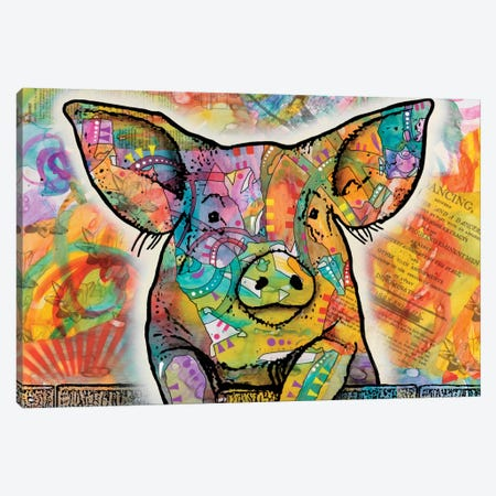 The Pig Canvas Print #DRO232} by Dean Russo Canvas Artwork