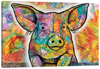 The Pig Canvas Print #DRO232
