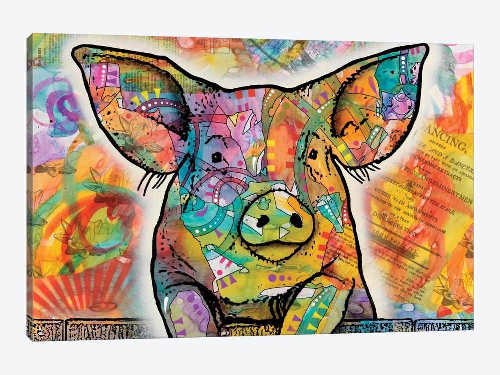 The Pig by Dean Russo 1-piece Canvas Print