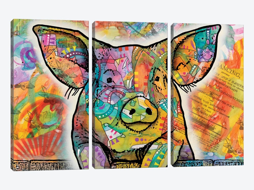 The Pig by Dean Russo 3-piece Art Print
