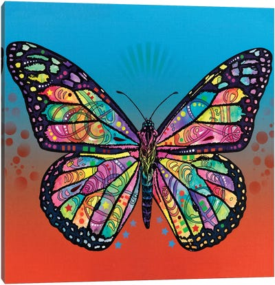 The Butterfly Canvas Art Print