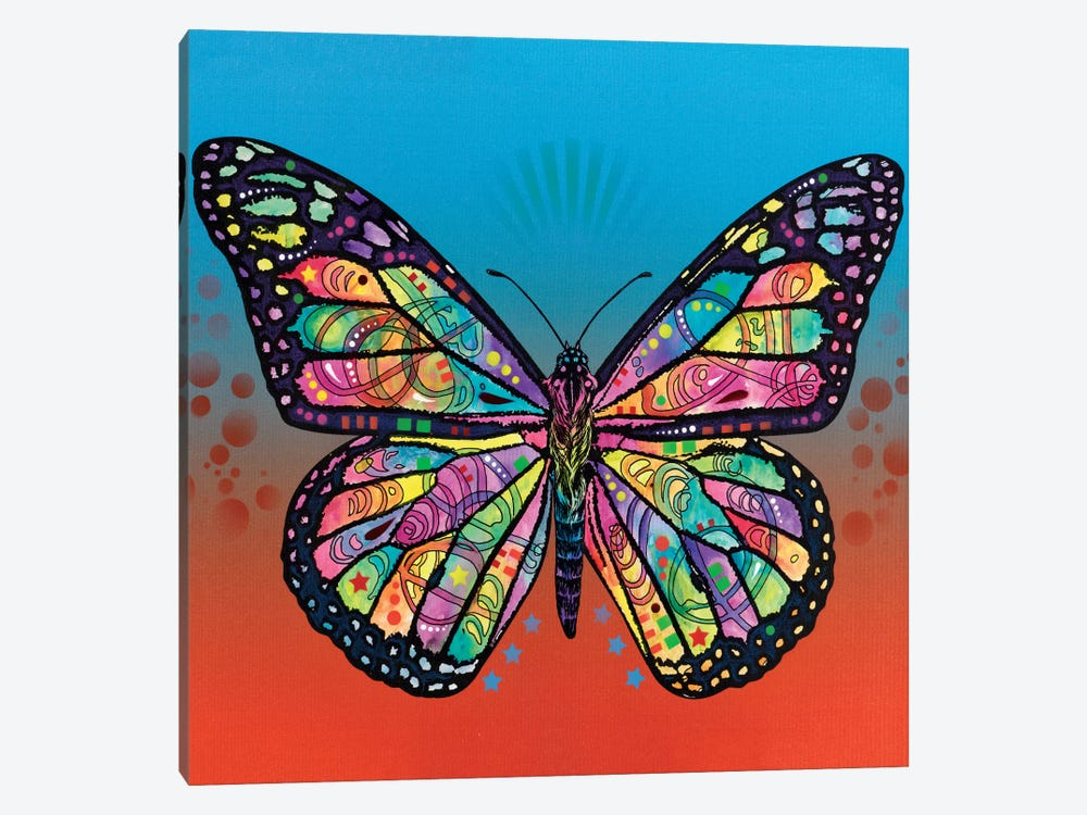 The Butterfly by Dean Russo 1-piece Canvas Artwork
