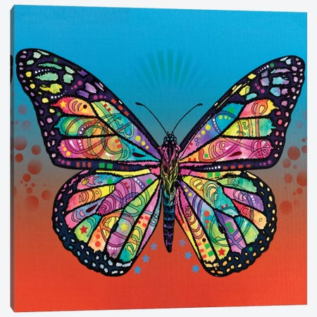 The Butterfly Canvas Print #DRO233} by Dean Russo Canvas Artwork