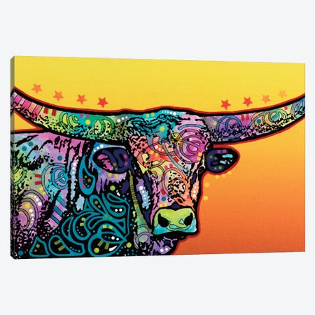 The Longhorn Canvas Print #DRO234} by Dean Russo Canvas Art Print