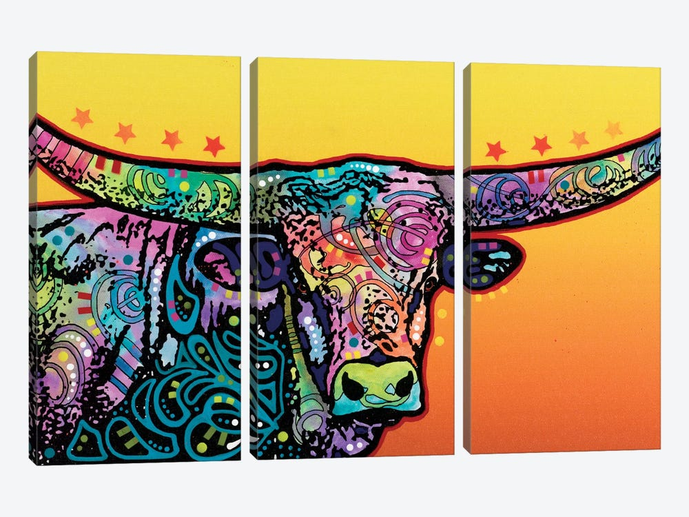 The Longhorn by Dean Russo 3-piece Canvas Print