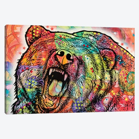 Grizzly Canvas Print #DRO235} by Dean Russo Canvas Art Print