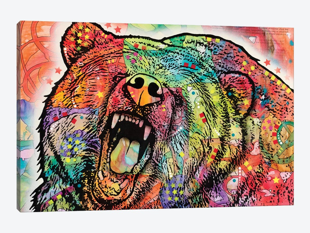 Grizzly by Dean Russo 1-piece Canvas Wall Art