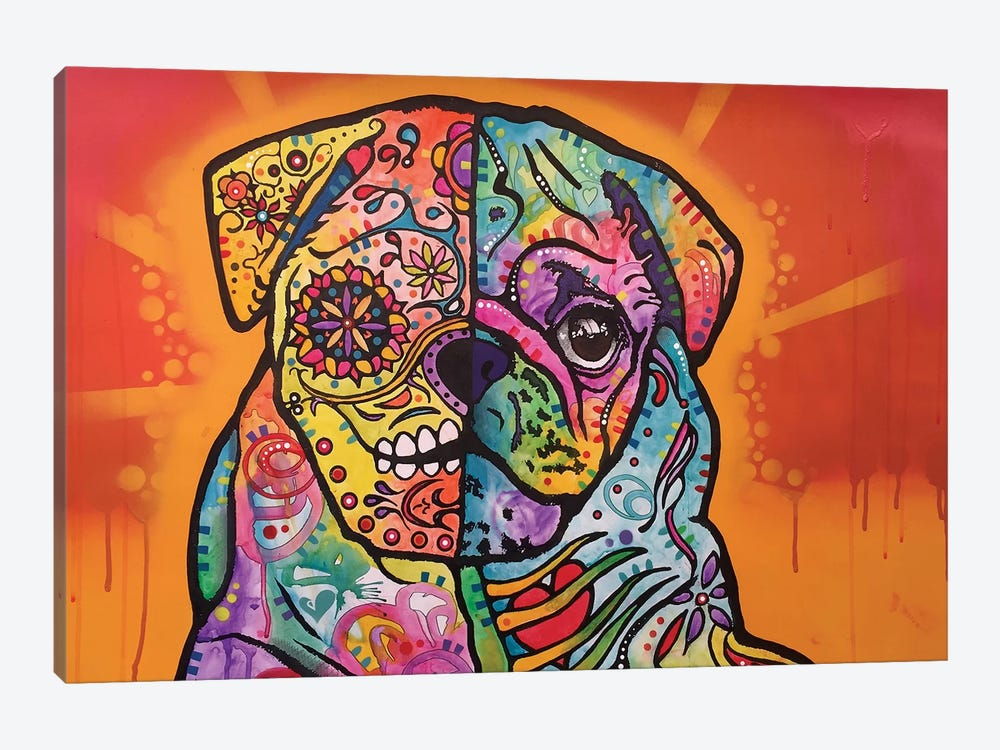 Sugar Pug by Dean Russo 1-piece Art Print