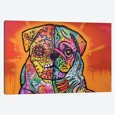 Sugar Pug Canvas Print #DRO236} by Dean Russo Canvas Art Print