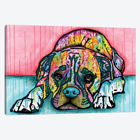 Lying Boxer Canvas Print #DRO238} by Dean Russo Canvas Artwork