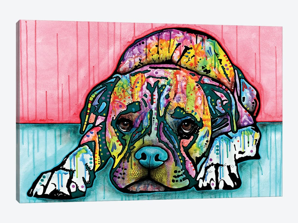Lying Boxer by Dean Russo 1-piece Canvas Art Print