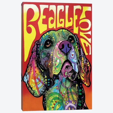 Beagle Love Canvas Print #DRO241} by Dean Russo Canvas Print
