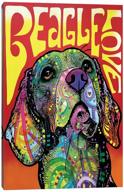 Beagle Love Canvas Print #DRO241