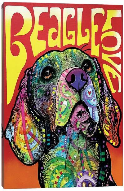 Beagle Love Canvas Art Print