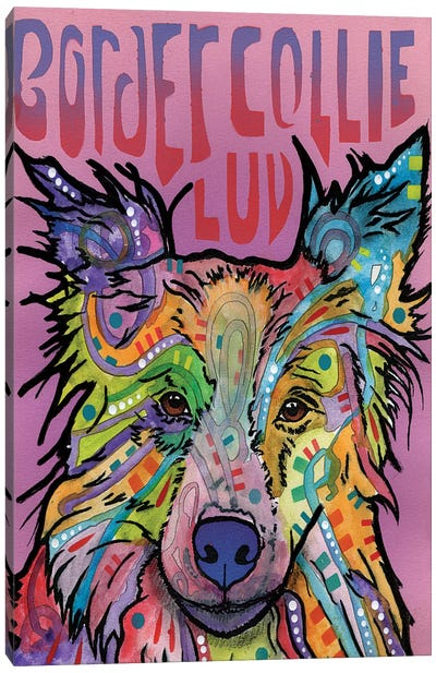 Border Collie Luv Canvas Art Print