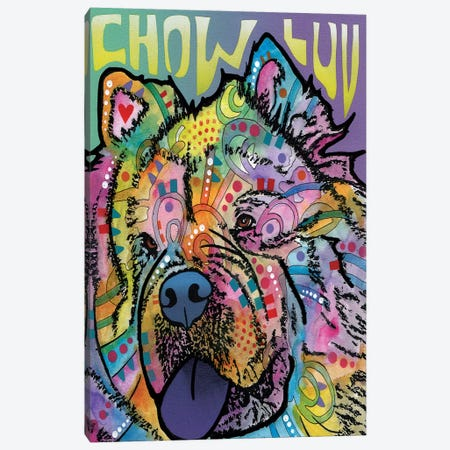 Chow Luv Canvas Print #DRO244} by Dean Russo Canvas Wall Art