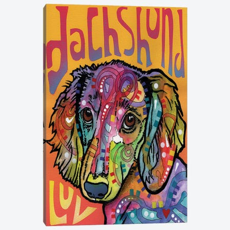 Dachshund Luv Canvas Print #DRO245} by Dean Russo Canvas Art