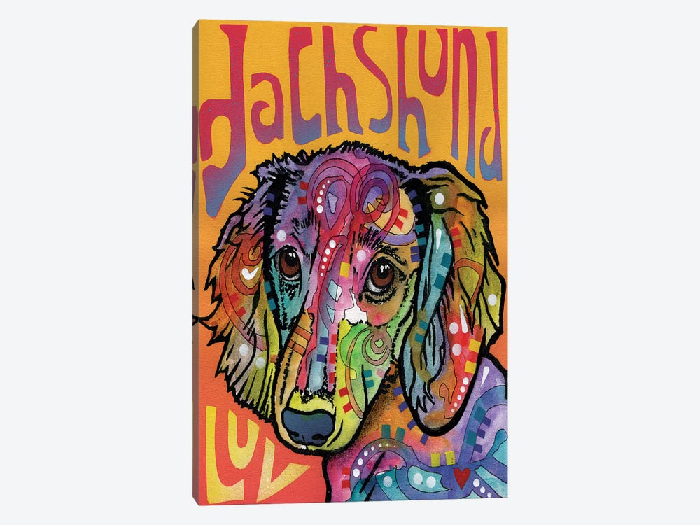 Dachshund Luv by Dean Russo 1-piece Canvas Print