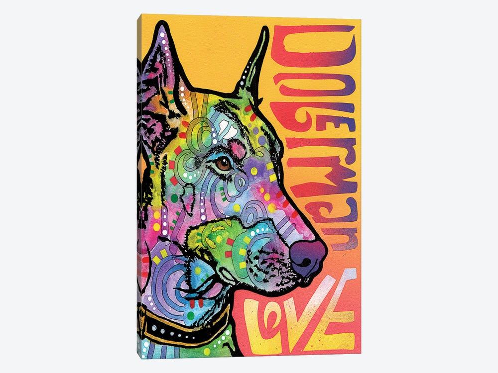 Doberman Love by Dean Russo 1-piece Canvas Wall Art