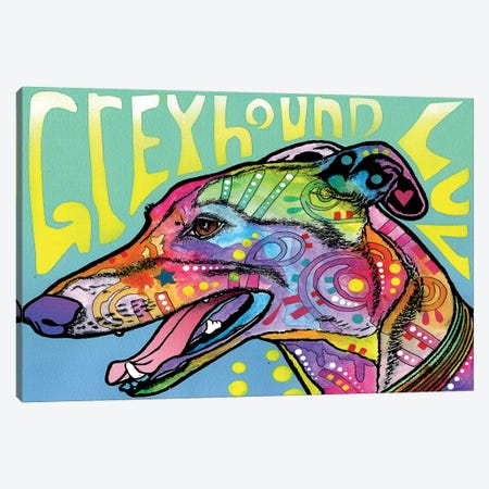 Greyhound Luv Canvas Print #DRO248} by Dean Russo Canvas Print