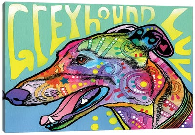 Greyhound Luv Canvas Print #DRO248